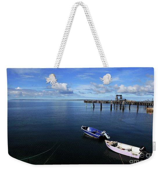 Two Dinghy Harbour Weekender Tote Bag