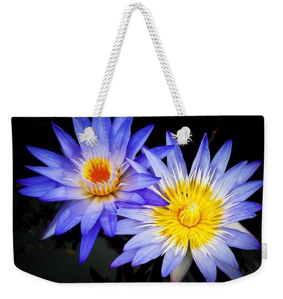Two Waterlillies Weekender Tote Bag