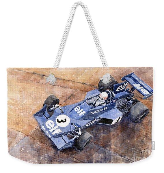 Tyrrell Ford 007 Jody Scheckter 1974 Swedish Gp Weekender Tote Bag