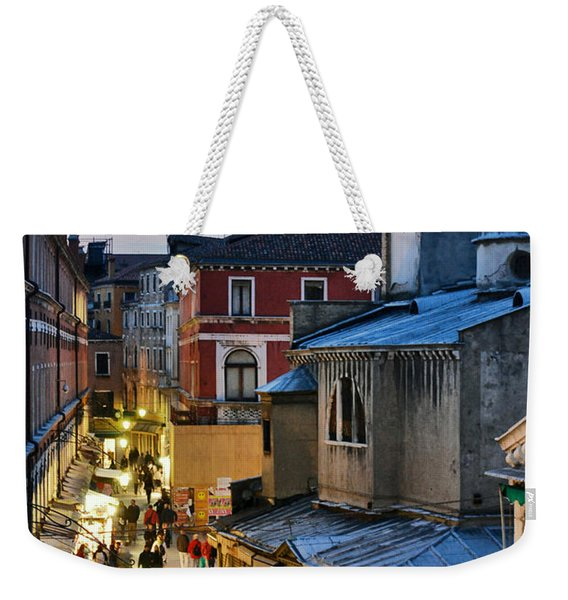 Venice From Ponte Di Rialto Weekender Tote Bag