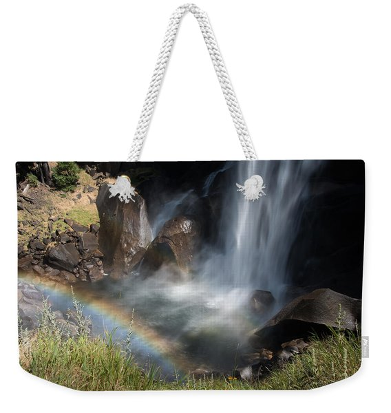 Vernal Falls Rainbow On Mist Trail Yosemite Np Weekender Tote Bag