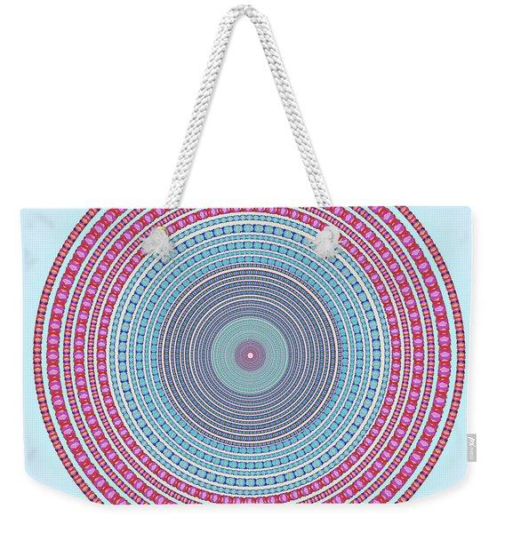 Vintage Color Circle Weekender Tote Bag