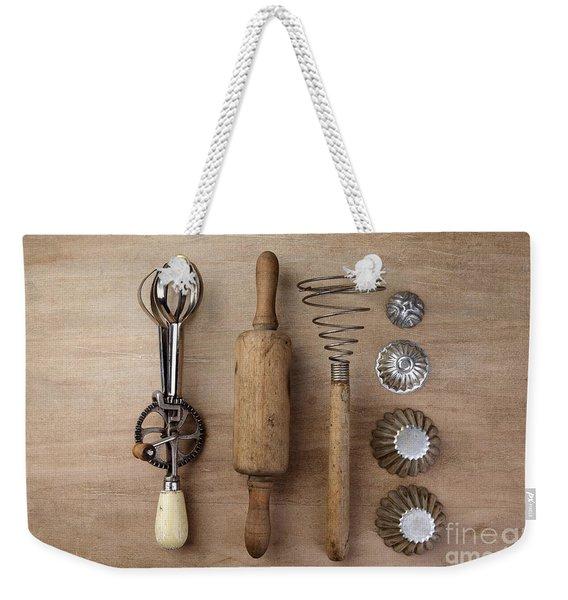 Vintage Cooking Utensils Weekender Tote Bag