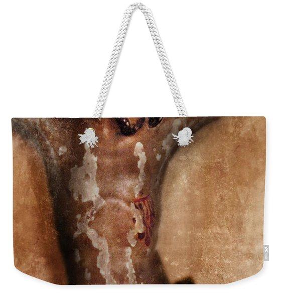 Vintage Crucifix Weekender Tote Bag