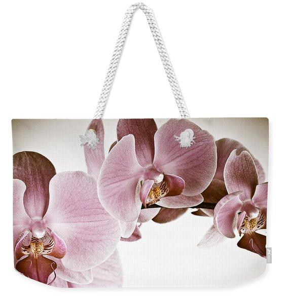 Vintage Orchid Weekender Tote Bag