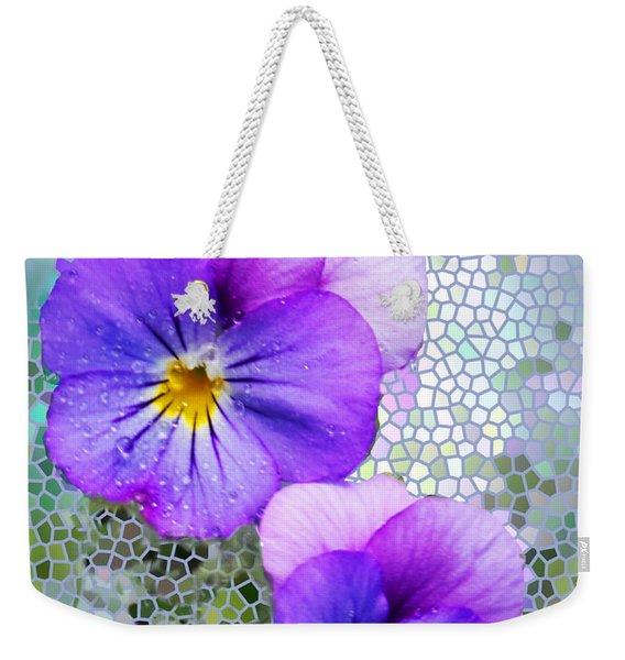 Viola On Glass Weekender Tote Bag