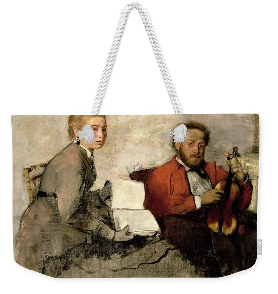 Violinist And Young Woman Weekender Tote Bag