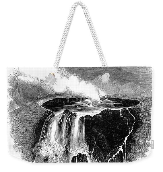 Volcano: Hawaii, 1844 Weekender Tote Bag