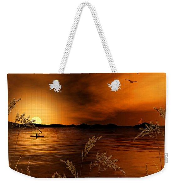 Warmth Ablaze - Gold Art Weekender Tote Bag