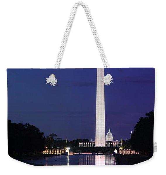 Washington Monument At Sunset Weekender Tote Bag