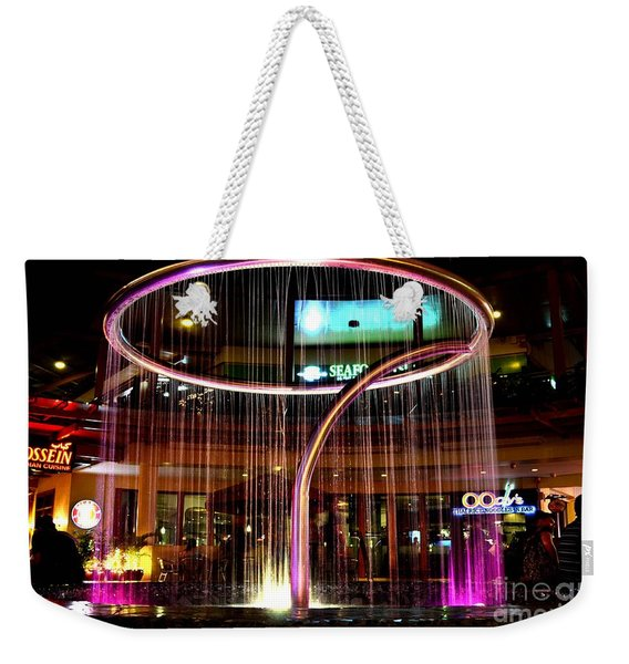 Water Fountain With Circle Seven Shape Weekender Tote Bag