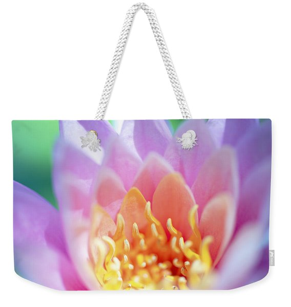 Water Lily Center Weekender Tote Bag