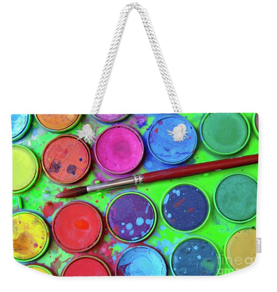 Watercolor Palette Weekender Tote Bag
