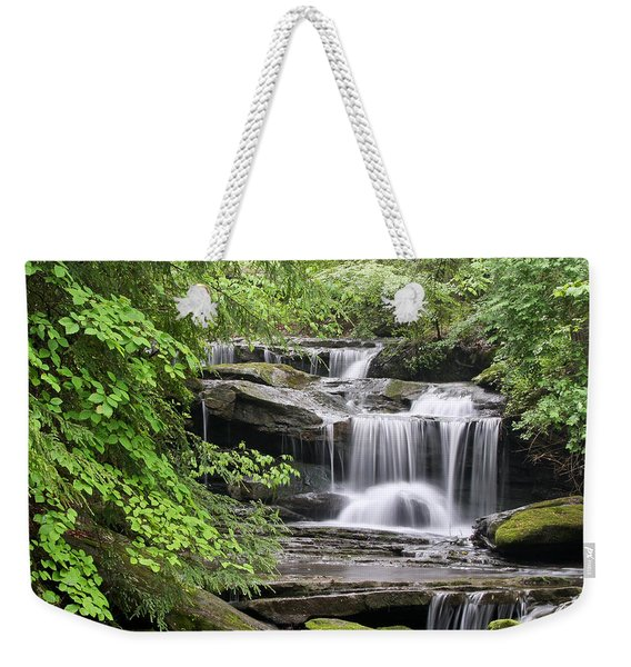 Waterfall Near Mabbitt Spring Weekender Tote Bag