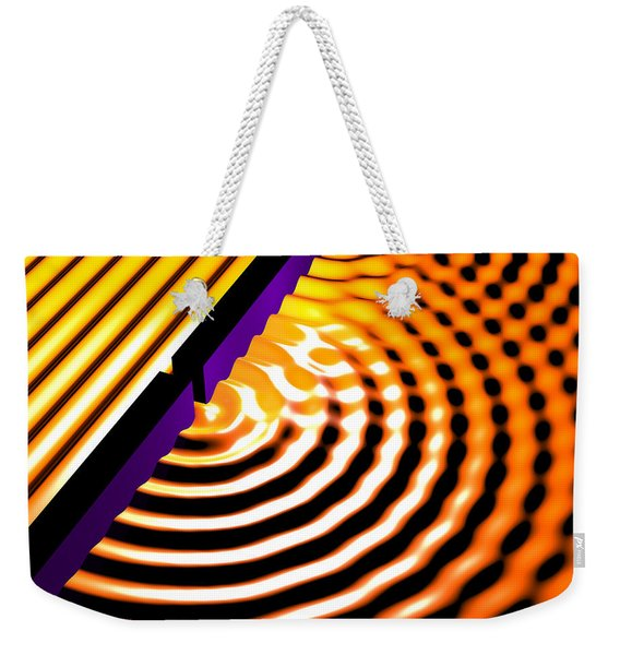 Waves Two Slit 2 Weekender Tote Bag