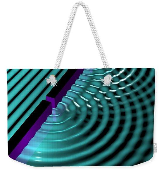 Waves Two Slit 3 Weekender Tote Bag