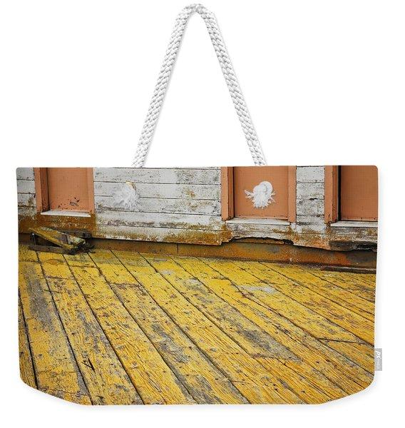 Weathered Monterey Building Weekender Tote Bag