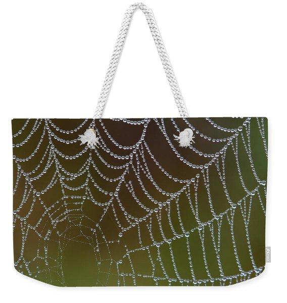 Web With Dew Weekender Tote Bag