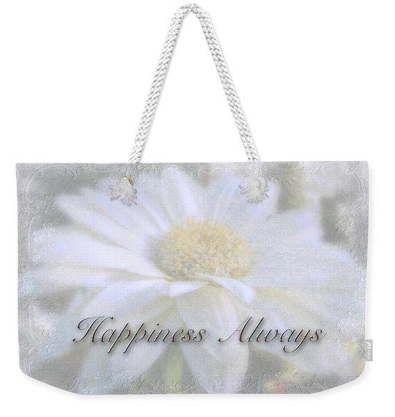 Wedding Happiness Greeting Card - White Gerbera Daisy Weekender Tote Bag