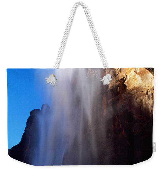 Weeping Rock Waterfall Weekender Tote Bag