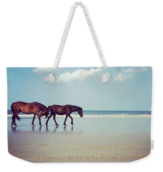 Well, This Just Happened. #wild #horses Weekender Tote Bag