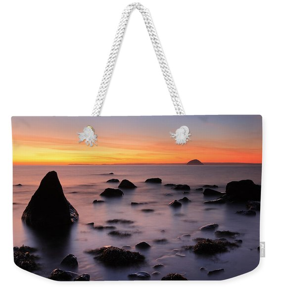 West Coast Sunset Weekender Tote Bag
