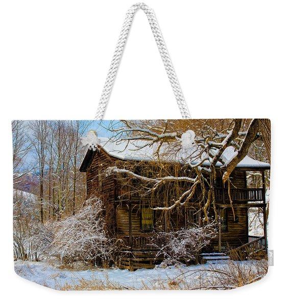West Virginia Winter Weekender Tote Bag