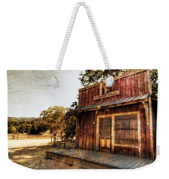 Western Barber Shop Weekender Tote Bag
