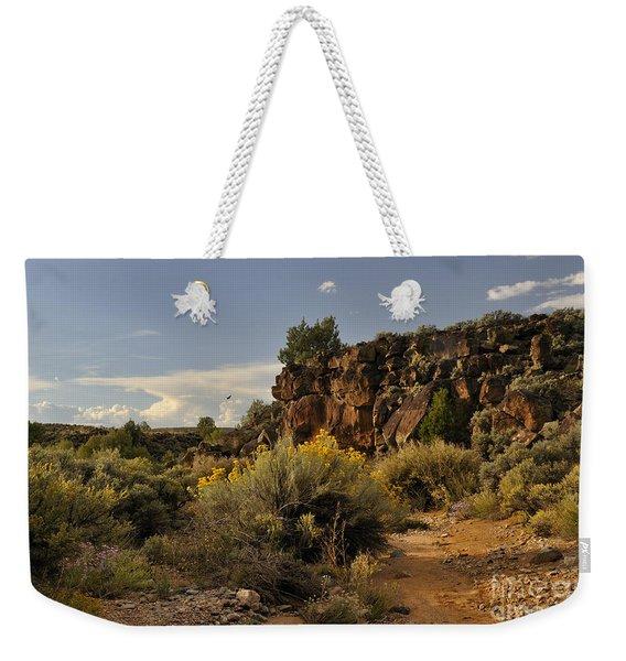 Westward Across The Mesa Weekender Tote Bag
