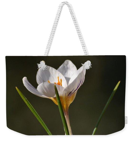 White Crocus Weekender Tote Bag