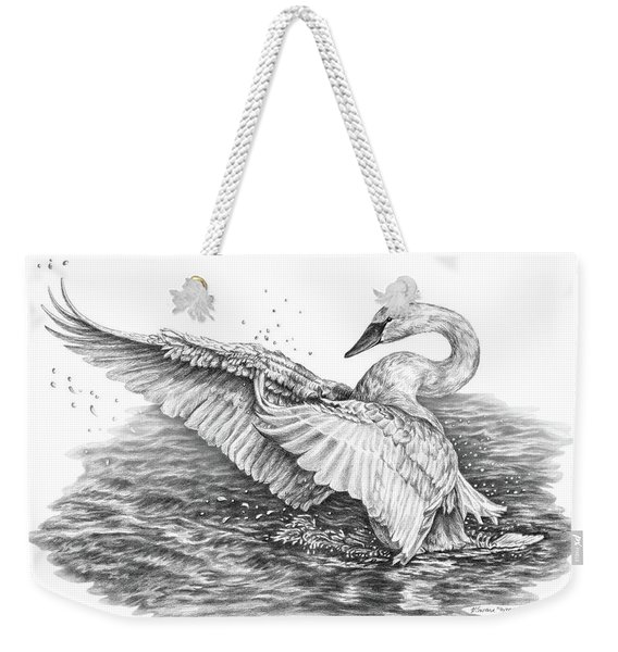 White Swan - Dreams Take Flight Weekender Tote Bag