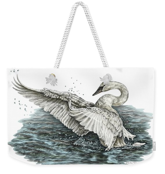 White Swan - Dreams Take Flight-tinted Weekender Tote Bag