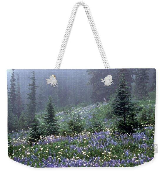 Wildflower Meadow Mt Rainier Weekender Tote Bag