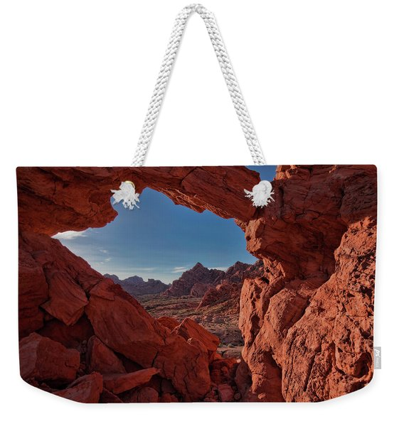 Window On The Valley Of Fire Weekender Tote Bag