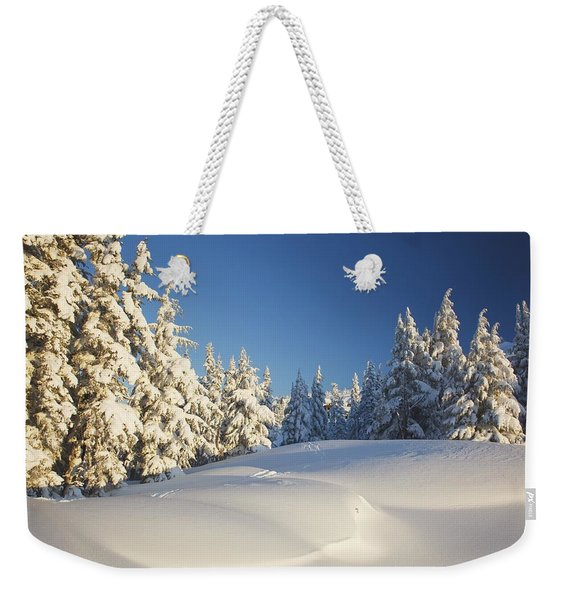 Winter Scene, Mount Hood, Oregon Weekender Tote Bag
