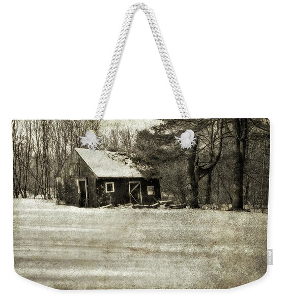 Winter Textures Weekender Tote Bag