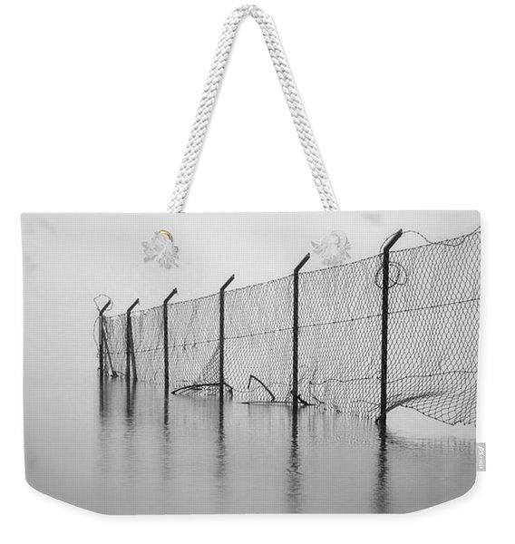 Wire Mesh Fence Weekender Tote Bag