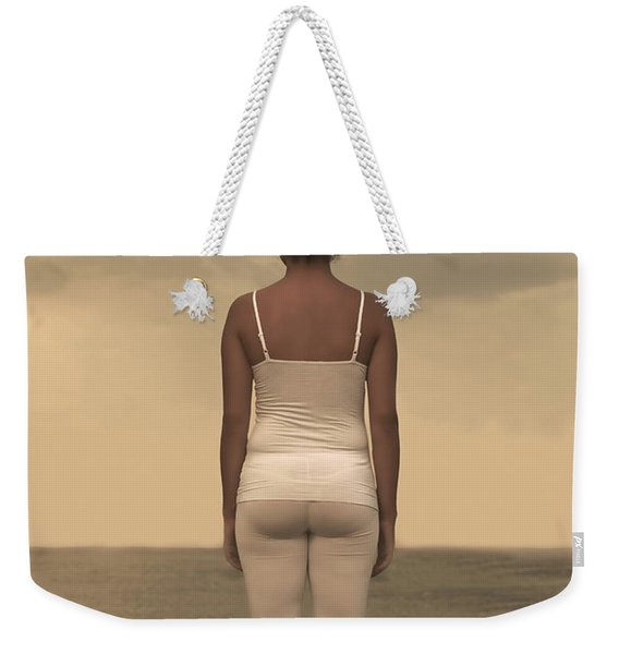 Woman On The Beach Weekender Tote Bag