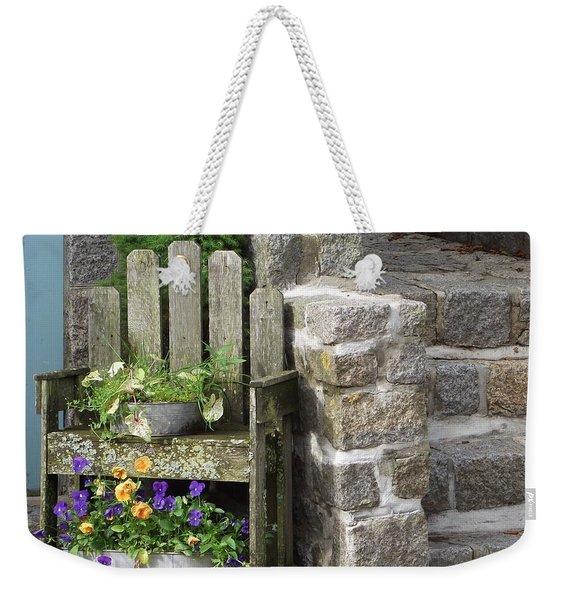 Wood And Granite Weekender Tote Bag