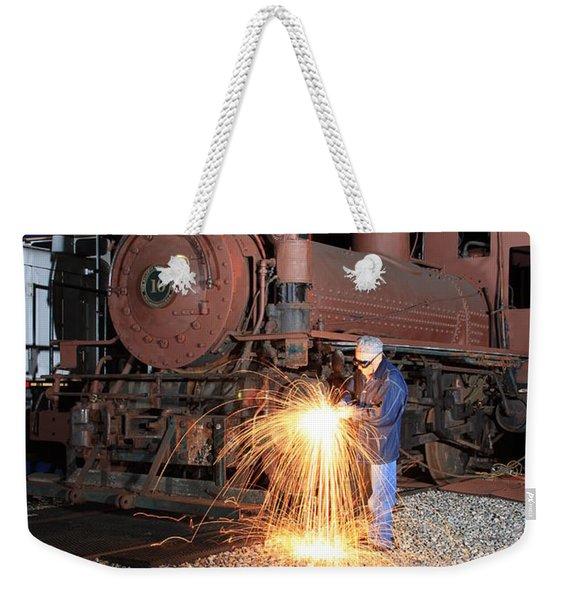 Working On The Railroad Weekender Tote Bag