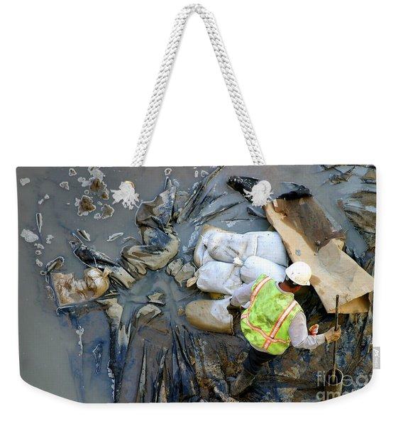 Working The Mud Weekender Tote Bag