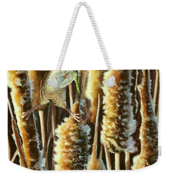 Wren And Cattails 2 Weekender Tote Bag