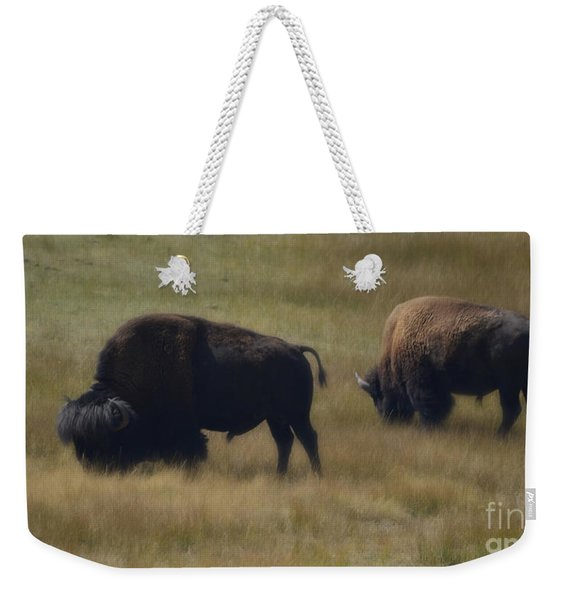 Wyoming Buffalo Weekender Tote Bag