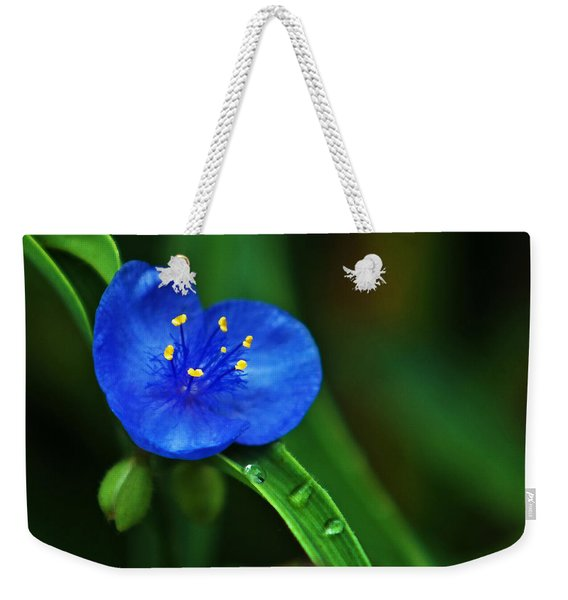 Yellow Blue And Raindrops Weekender Tote Bag