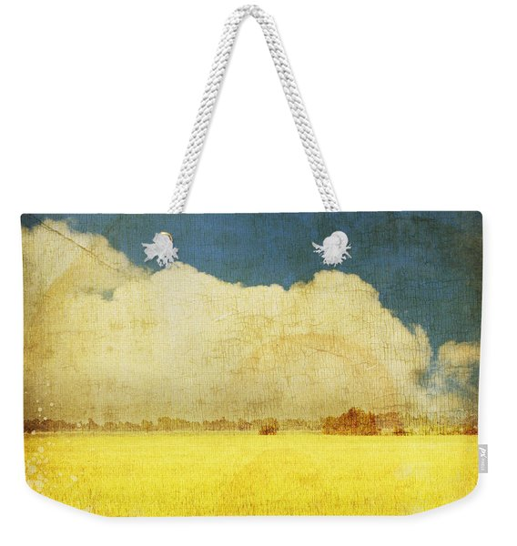 Yellow Field Weekender Tote Bag