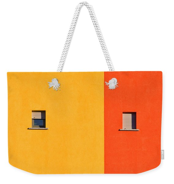 Yellow Orange Blue With Windows Weekender Tote Bag