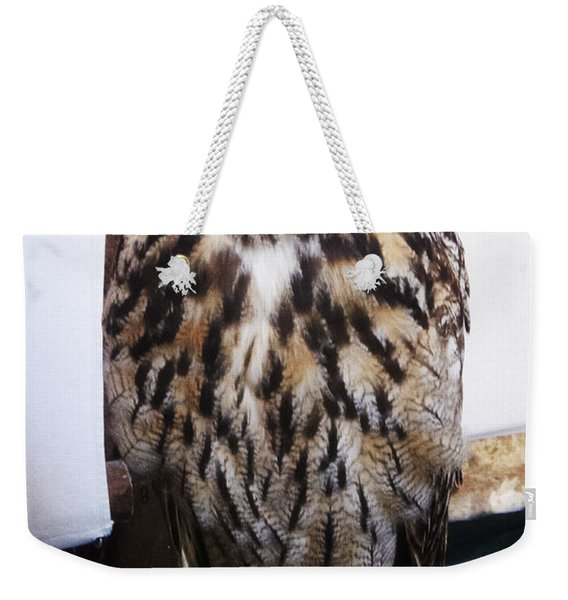 Yellow Owl Eyes Weekender Tote Bag
