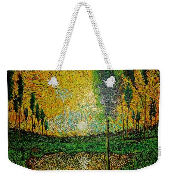 Yellow Pond Weekender Tote Bag