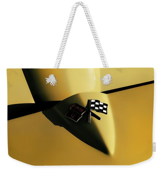 Yellow Vette Badge Weekender Tote Bag