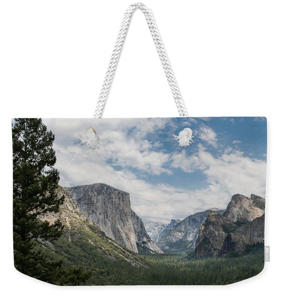 Yosemite Valley From Tunnel View At Yosemite Np Weekender Tote Bag